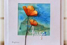 Handmade cards / Like us on Facebook @ facebook.com/bellaartonline / by Mary Ann A. aka Bella ART