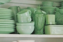 milkglass & jadeite. / by cheryl @ a pretty cool life.