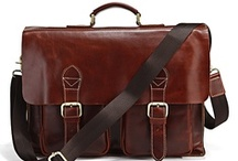 Men's Leather Bags / by Paulien King