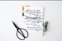 wedding stationary / by Kelsey Loewen