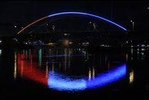 Amelia Earhart Memorial Bridge Light Show / by Kansas Department of Transportation