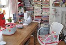 Sewing Room Ideas / by Vicki Hillhouse