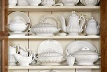 WHITE IRONSTONE  / White ironstone and other dishes / by Susan Harris Seeley
