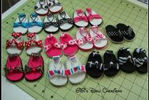 AG -18 inch Doll Shoes  - tutorials or patterns to purchase / Doll shoes on this site have tutorials for making shoes or pins to purchase the patterns to make the doll shoes. Shoes are for 18 inch dolls. / by Margaret Johnson