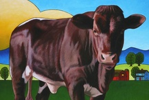 Cow and Bull Art / Cow Art / by Junell Toney