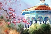 aaaa  Watercolor / Architecture 1 / Architecture in Watercolor / by Junell Toney