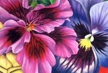 Pastel / Floral and Leaves / Pastel Painting / by Junell Toney