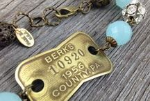 My Jewelry | Dog Tag Jewelry / I love making bracelets... and sometimes necklaces... out of vintage dog tags.  Look for the year of your birth or another important year.  Or a city/state that you want to remember.  Available in my Etsy shop:  DuctTapeAndDenim.etsy.com / by Ann @ Duct Tape and Denim
