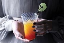 Halloween Cocktails & Drinks / Halloween Drinks, Cocktails & Beverages. Find spooky Halloween cocktails, ghastly Halloween party drinks, Jell-O shots, brain cocktails, deadly drinks, Halloween bottle labels, spooky non-alcohol beverages and fun ways to serve scary Halloween drinks.  / by Aspen Country