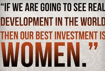 """Women: The Best Investment / """"If we are going to see real development in the world then our best investment is women."""" -Desmond Tutu / by Girls Education International"""
