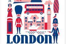 London in print. / by Ana Nunes