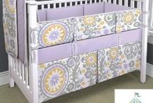 purple baby decor / by Lisa Hayden
