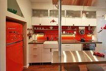 Great Retro Kitchens by Big Chill / Take a look at some innovative kitchens with Big Chill fridges, dishwashers, microwaves, stoves and hoods. / by Big Chill