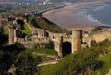 ♔ Scarborough Castle / Scarborough Castle started life as an Iron Age fort, was occupied by the Romans, became a Viking settlement and later a royal stronghold. (Scarborough, North Yorkshire, England) The 12th Century tower built by Henry 11 is the centrepiece of the ruined castle that stands today. / by Melissa