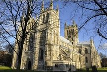 ♔ Selby & Abbey, N. Yorks / The Abbey in Shelby is one of the relatively few surviving abbey churches of the medieval period, and, although not a cathedral, is one of the biggest. It was founded by Benedict of Auxerre in 1069 and subsequently built by the de Lacy family. / by Melissa