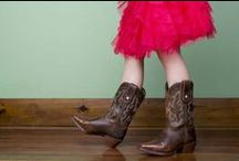 Kid's Cowboy Boots / These kid's cowboy boots will outlast your toughest little buckaroo and dazzle your darling princess cowgirl.  / by Country Outfitter