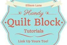 Sewing Tutorials (Quilting & Sewing) / Free tutorials for quilts or quilt blocks. / by Jennifer Mathis (Ellison Lane: Modern Sewing & Design)