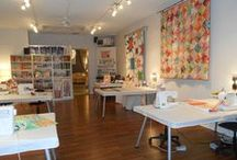 Sewing Space / Craft and Sewing Room Inspirations / by Jennifer Mathis (Ellison Lane: Modern Sewing & Design)