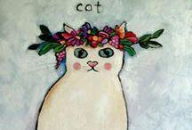 ♥~meow~♥ /  (((Dedicated to my beloved cat~~MITZI~I love you♥)))  / by Karen Fuertsch