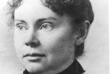 Lizzie Borden / Lizzie Andrew Borden[1] (July 19, 1860 – June 1, 1927) was an American woman who was tried and acquitted in the 1892 axe murders of her father and stepmother in Fall River, Massachusetts. The case was a cause célèbre throughout the United States. Following her release from the prison in which she had been held during the trial, Borden chose to remain a resident of Fall River, Massachusetts, for the rest of her life, despite facing significant ostracism. / by Karen Fuertsch