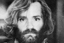 Charles Manson / Charles Manson, Father of The Manson Family, who is called The Most Dangerous mind and The Devil. He was the terror of the 1960's and famous for his Helter Skelter killings beginning with actress Sharon Tate. Although he didn't participate in the actual murders, he was the mastermind behind them and had his followers brainwashed to do what ever he wanted. / by Karen Fuertsch