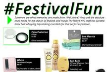 TRENDING: #FestivalFun / Summers are what memories are made of. Well, there's that and the absolute must-haves for the season of festivals and music! The Ricky's NYC staff has curated these hair-whipping, hip-shaking essentials for that perfect summer experience. / by Ricky's NYC