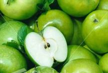 ~APPLEY~GREEN~ / Anyone can count the seeds in an apple, but only God can count the number of apples in a seed. I love the color apple green! It is a happy vibrant color! / by Connie Jones-Matias