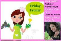Friday Frenzy--weekly craft and recipe linky / sharing our featured recipes and crafts from our weekly linky party / by Close to Home Blog