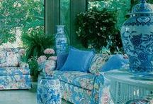 Chinoiserie and Chintz / I have always loved chintz and it combines beautifully with Chinoiserie. Here is how to use this classic fabric in your home. / by Beth Connolly // Chinoiserie Chic