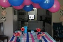 Pink White & Blue BBQ / Post-4th Celebration that doubles as a Gender Reveal Party / by Tiffany Schoenborn
