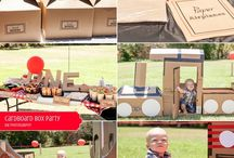 Landon Turns 1 / First Birthday - Cardboard Box Theme. Think outside the box!  / by Tiffany Schoenborn