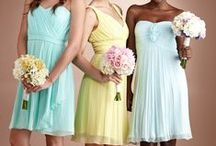 Bridesmaids / We have all the colors and great choices!  We carry top designers like Donna Morgan, Bill Levkoff, Alfred Sung, and more! Find it at www.poffiegirls.com  / by Poffie Girls