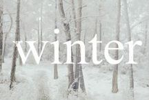 ❆ Thus it be winter ❆ / Coming from Canada I know winter!  I love winter- a romantic walk in the snow, the quiet silence, the beauty of nature covered in it's while blanket.   / by Judith ✌