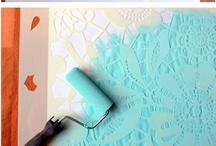 Stencils: Home Decor & Paper / by Lori Allred {allreddesign.net}
