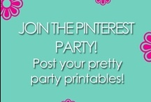 """PRETTY PARTY PRINTABLES / We're thrilled to see your pretty party printables! The only rule is: no spam and affiliate links, so let's keep this board looking pretty for parties! Please join us by writing to our editor at bellenzabistro AT gmail DOT COM with the title of """"Joining Pretty Party Printables on Pinterest."""" / by Bellenza"""
