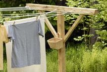 Clotheslines & Sunshine / Just another of my mini-obsessions. Clotheslines. I adore everything about them.  / by Jill Nystul {One Good Thing by Jillee}