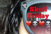 """#SkullFriday / Want to share a Walking Dead tradition? We celebrate the weekend with the Twitter hashtag #SkullFriday and wear skulls to work. Share a photo of yourself celebrating with skulls on Twitter, with Valhalla Entertainment (@ValhallaPics) and our CEO and Executive Producer of """"The Walking Dead"""", Gale Anne Hurd (@GunnerGale) to get a retweet and be featured in this album! / by Valhalla Entertainment"""