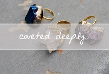 Coveted Deeply... / Cov·et·ed To wish for longingly. See Synonyms at desire.  Deep-lee To a thorough extent or profound degree: deeply pained; deeply committed.  These are the things I covet deeply. / by Chanelle Sicard