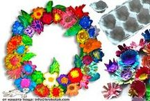 Recycled Egg Carton Crafts / by The Crafty Crow