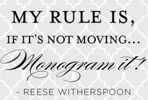 Monograms / by Glenda McCoy