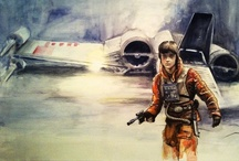 Star Wars Art / I am mainly pinnng art based on the original trilogy (New Hope, Empire, Jedi). The only prequel art I may consider pinning are clone trooper, Jango, or wookie art. I have a separate board for Star Wars collectibles, photos, etc. My own Star Wars art is on my Digital Art board. / by K. Fairbanks