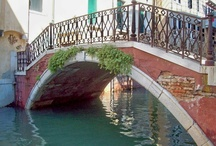 Venetian Bridges / From Crossing the Bridge of Sighs:  Venice boasts four hundred bridges: one of wood, one to sigh, one to struggle . . . three hundred and ninety seven to go. page 38 / by Susan Ashley Michael