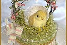 Vintage & Prim Look Easter Decorations / Love the look of vintage and primitive Easter decorations. Some are made out of paper, others are cloth, chalk, clay, wood or resin made to look like vintage paper. Disclaimer: I do not claim copyright or ownership of any content on this board. My pins are mainly personal expression, meant for the enjoyment of others, and for sharing. / by Ann Kraft