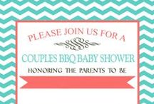 Baby Shower {Brittany & Kyle} / Kyle & Brittany would like to have a co-ed bbq baby shower.  Brittany loves aqua/mint and coral.  Baby B's nursery will be aqua/mint, coral and gold.  This should be a fabulous shower! / by Amanda Santee
