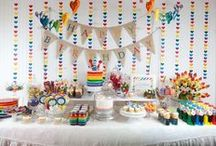 Baby Shower {Rainbow} / Rainbow color scheme baby shower.  Colorful baby shower. / by Amanda Santee
