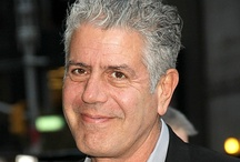 Anthony Bourdain-Chef / B-Anthony Michael, June 25,1956,NY, cooking style is French, educated Vassar College & Culinary Institute of Am., American author, chef & TV personality. Married 2 times, current spouse Ottavia Busia, 1 daughter.He is known for his liberal use of profanity & sexual references on his TV show,a drinker & smoker, sarcastic, also know for consuming exotic dishes such as testicles, beating heart of a cobra, raw eyeballs, rectum & fermented shark (the worst).He has many awards for cooking & writing. / by Trudi Foxcroft