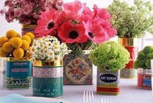 Bridal Shower - Bright, Sunny, Vintage / A bright, colorful, vintage inspired bridal shower:  pops of aqua, poppy, peach and mustard combined with antique tea tins and fresh flowers create a memorable setting to toast the lovely bride-to-be. / by Kaitlyn Lowery