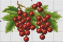 Cross stitch, punto de cruz, point de croix, kreuzstitch / by Maria Vargane