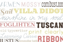 fonts...and printables. / by Sara Sorensen