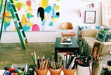 Artists- studios, creative process, quotes.... / by Sandra Sasso